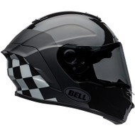 Bell Star MIPS-Equipped DLX Helmet - Lux Checkers Matte / Gloss Black / White