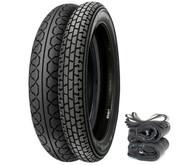 Metzeler Perfect ME 11/77 Tire Set - Honda SL350K 69-71 CB500T/550 CB750F 75-78 CB750K 69-76