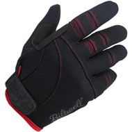 Biltwell Moto Gloves - Black / Red