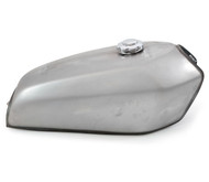 The San Bruno Cafe Racer Gas Tank - Raw Steel
