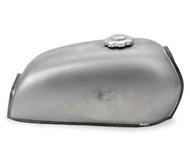 The Peanut Classic Style Gas Tank - Raw Steel