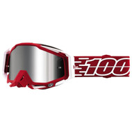 100% Racecraft Plus Goggles - Gustavia with Silver Flash Mirror Lens