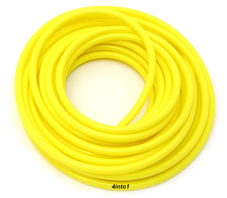 Polyurethane Fuel Line 5/' Feet 6mm Helix Clear 1//4/""