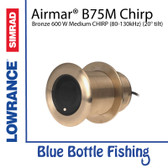 Airmar for Lowrance / SIMRAD B75M 20 deg Tilt Bronze 600 W Thru Hull High CHIRP 80-130kHz) Depth/Temp (20 deg tilt) - blue 7 pin connector