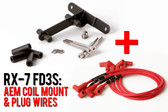 FD3S LHD AEM Coil Mount & Spark Plug Wires