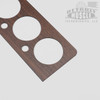 "Mopar E Body 70-74 Non Rallye Dash Overlay - WALNUT woodgrain on .060"" plastic backing"