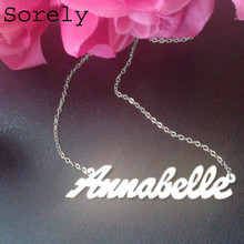 Personalized Hand Cut Name Necklace (Annabelle Style White)