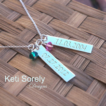 Create Your Own Family Necklace. Choose  Your Desired Charm and Stone Quantity. Swarovski Birthstones.
