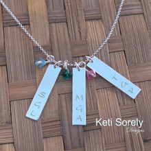 Create Your Own Family Initials Necklace. Choose Your Desired Charms and Stone Quantity. Swarovski Birthstones.