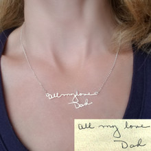 Handwritten Message Or Signature Necklace - Choose Your Metal