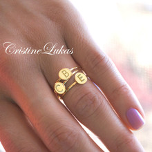 Blake Lively Inspired Personalized Initial Stacking Ring  - Choose Your Metal