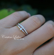 Dainty Cross Stacking Rings Set - Silver, Yellow or Rose Gold