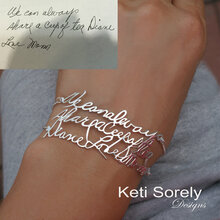 Use Your Handwriting To Create Special Message Bracelet - Choose Your Metal