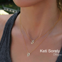 Personalized Numbers Layered Necklace in Sterling Silver, Yellow, Rose or White Gold