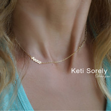 Dainty Name Necklace -  Choose Your Metal
