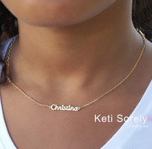 Kids Name Necklace -  Choose Your Metal