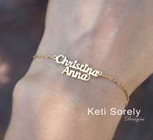 Custom order for double name necklaces