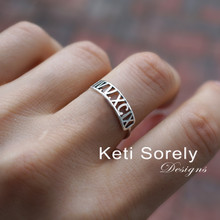 Special Date Ring with Roman Numerals - Choose Your Metal