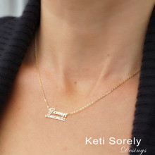 Dainty Double Name Necklace  -  Choose Your Metal