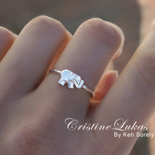 Solid Gold Elephant Ring in Yellow, Rose or White Gold
