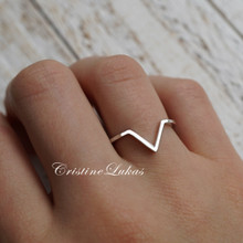 Classic Chevron Ring in Solid Gold