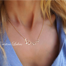 Create Your Family Love Necklace - Choose Metal