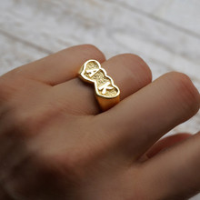 Couples Name Ring with Initials - Choose Your Metal