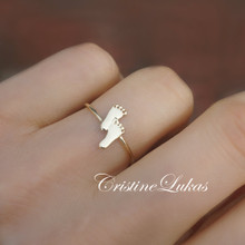 Mini Footprint Ring - Choose Your Metal