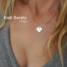 Engraved Cross Necklace  - Choose Metal