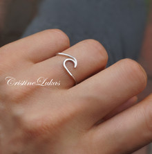 Dainty Wave Ring - Choose Your Metal