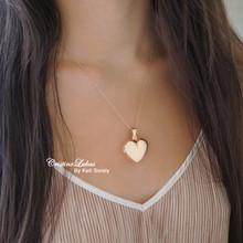 Heart Locket Necklace - Choose Metal