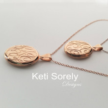 Custom Made Monogram Locket with Hand Engraved Initials - Choose Metal