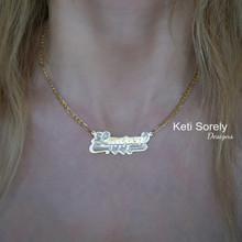 Personalized Name Necklace with 3D Look