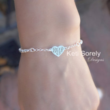 Engraved Dainty Heart Bracelet With Adjustable Clasp - Choose Your Metal
