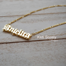 Personalized 3D Gothic Name Necklace - Choose Metal