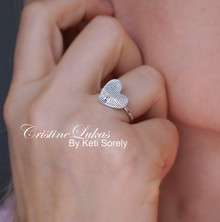Personalized Fingerprint Heart Ring - Choose Your Metal