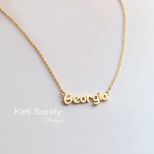 Mini City, State or Country Name Necklace   -  Choose Your Metal
