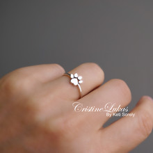 Paw Print Ring - Choose Metal