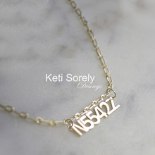 Personalized Special Number Necklace With Paper Clip Chain