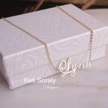 Swirly Font Name Necklace  - Choose Your Metal