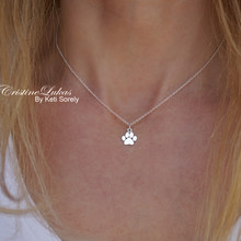 Mini Paw Print Necklace - Choose Your Metal