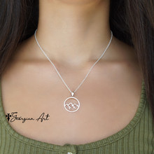 Mountain Necklace in Solid Gold