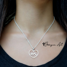 Heart Shaped Mountain Necklace in Solid Gold