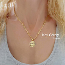 Monogram Initial Pendant With Large Curb Chain - Choose Metal