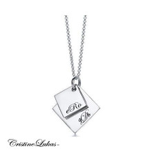Family Initials Charms - White Gold