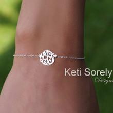 Monogrammed Initials Bracelet Or Anklet in Sterling Silver or Solid Gold
