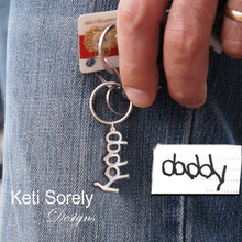 Hand Write Your Name Or Signature Key Chain - Sterling Silver