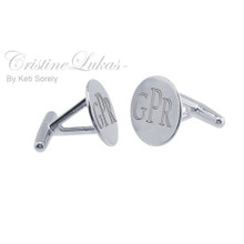 Modern Initials Cuff links for Man - Streling silver