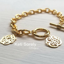 Family Monogram Initials Bracelet Or Anklet - Choose Metal