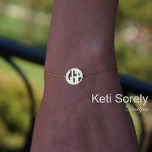 Handmade Modern Initials Bracelet - Choose Metal